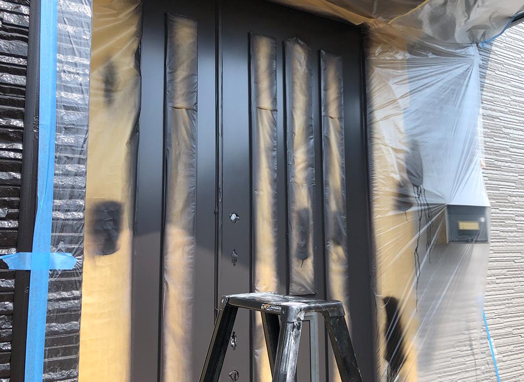 玄関扉 再塗装